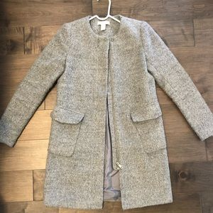 Size 4 H&M polyester and wool coat